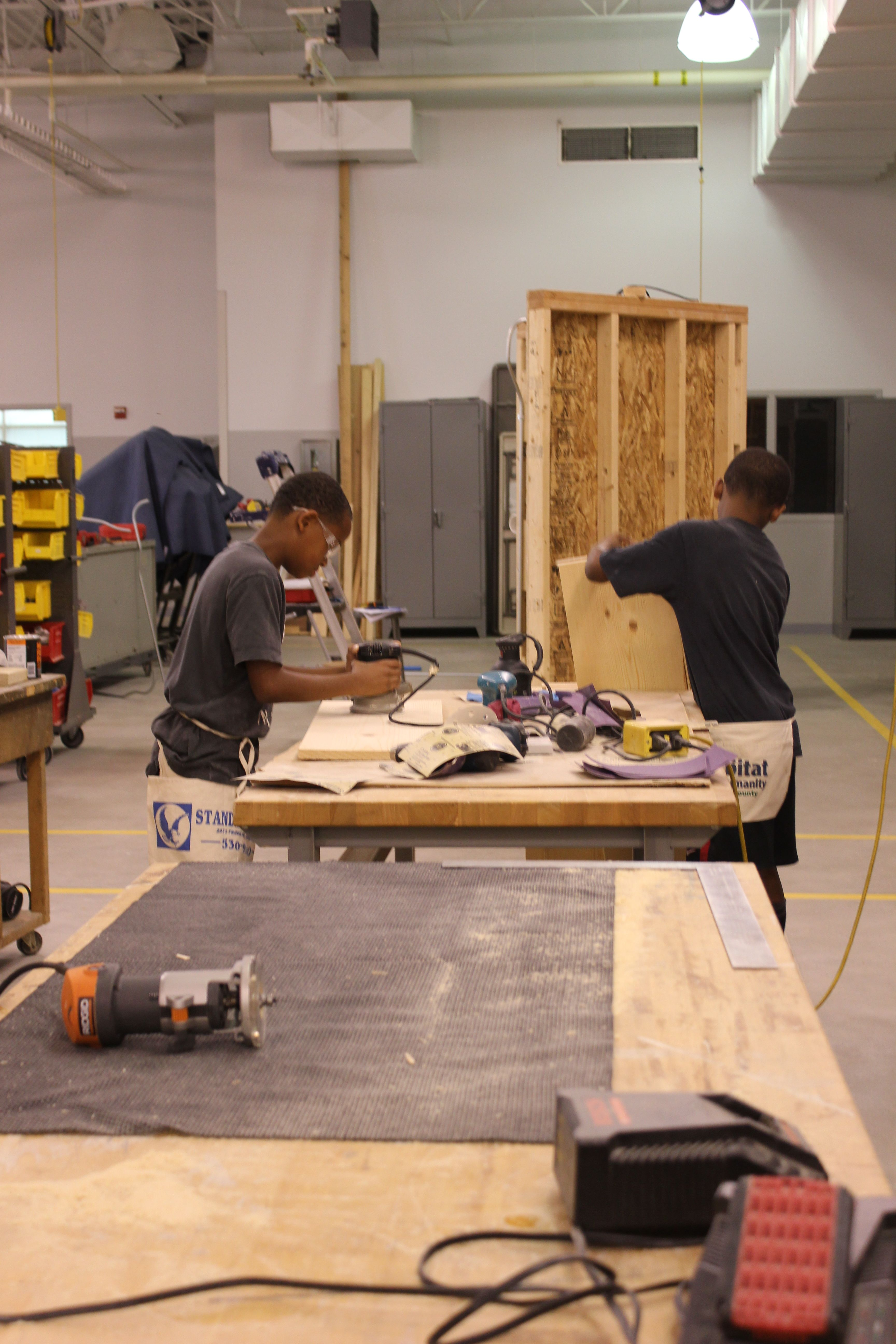 Photos from GRCC's Woodworking Summer Camp   GRCC in the