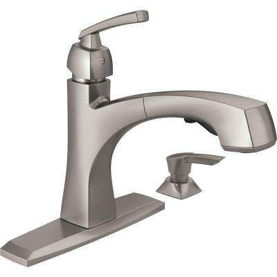 Montauk Single Handle Pull Out Sprayer Kitchen Faucet With Soap