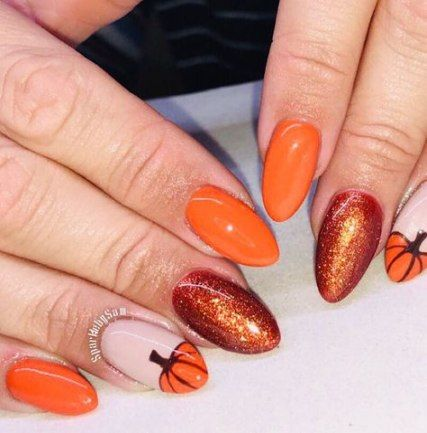 nails design fall orange 19 best ideas  fall nail