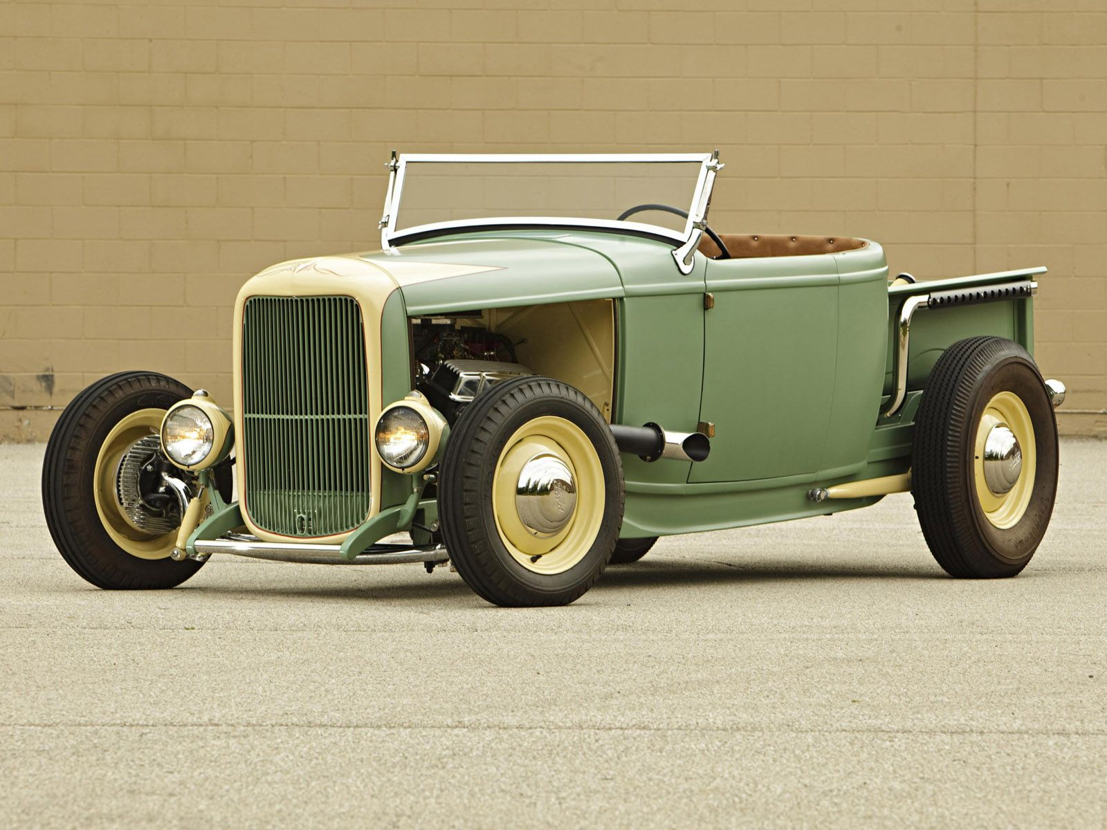 1932 ford trucks 1932 ford roadster pickup truck retro hot rod rods engine engines hr