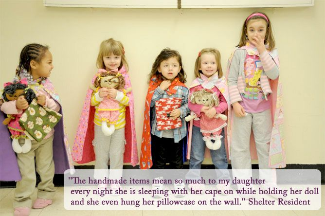 Fabric Dolls And Other Items For Homeless Shelters Make It And Love It Capes For Kids Sewing For Kids Sewing With Nancy