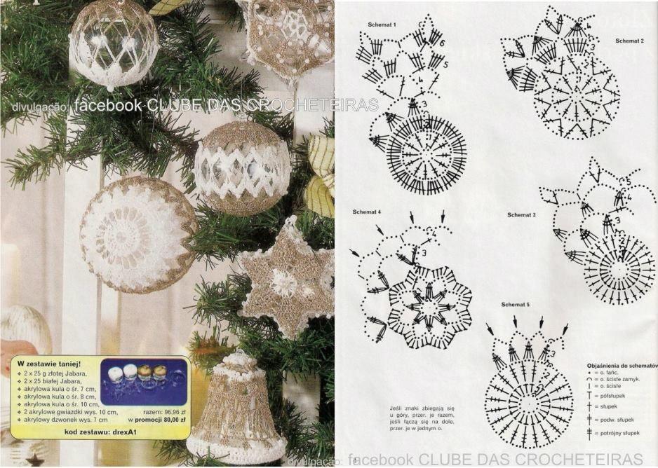 Schemi uncinetto per palline di natale albero blog e for Addobbi natalizi all uncinetto