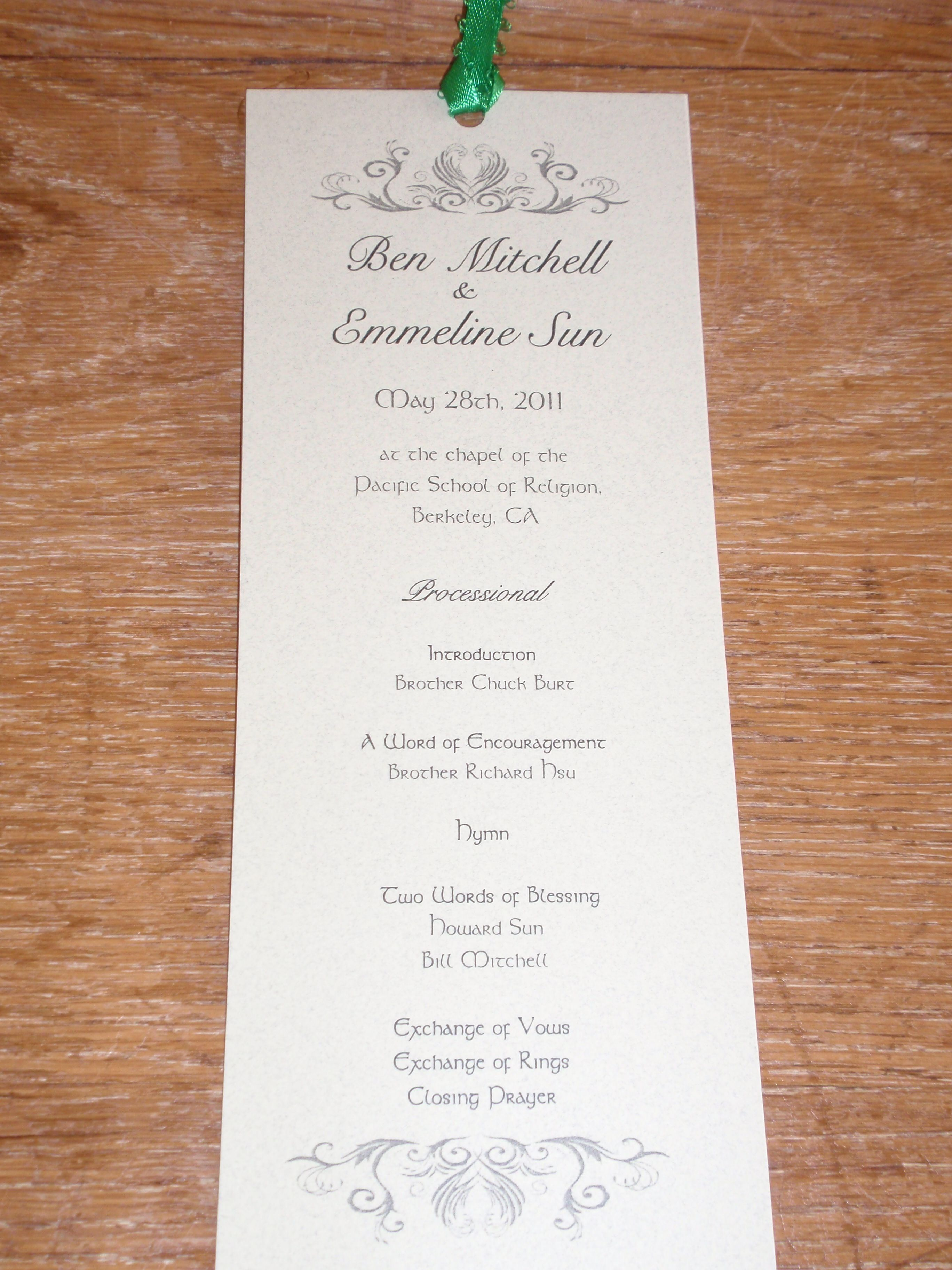 Cute Idea For Wedding Programs Another Item That Is Usually Missed At Weddings Family Members Love To Have Wedding Programs Template Wedding Programs Wedding