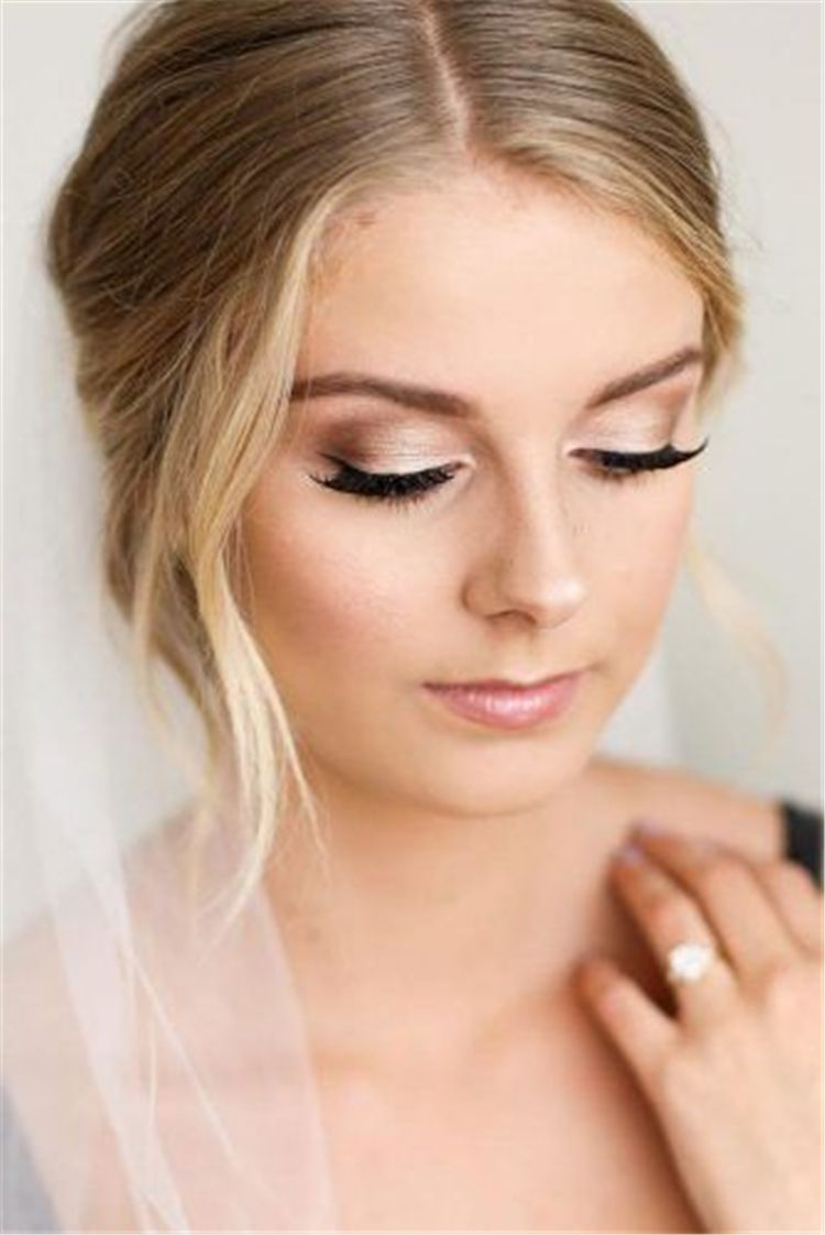 40 Most Attractive Natural Wedding Make Up Looks Bridal Makeup Natural Blonde Hair Makeup Gorgeous Wedding Makeup