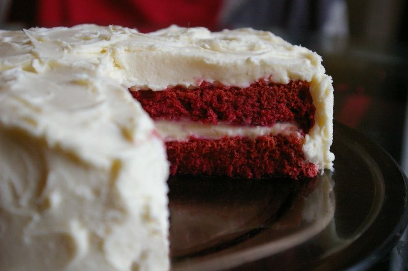 Naturally Colored Red Velvet Cake 6 eggs, separated 1 cup ...