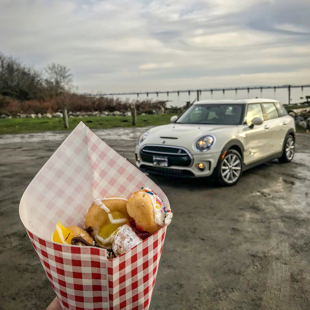 Monday's are for mini donuts and Mini Cooper S! - I had a