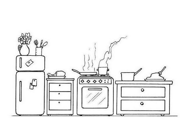 Mutfak Esyalari Boyama Google Da Ara Boyama Sayfalari