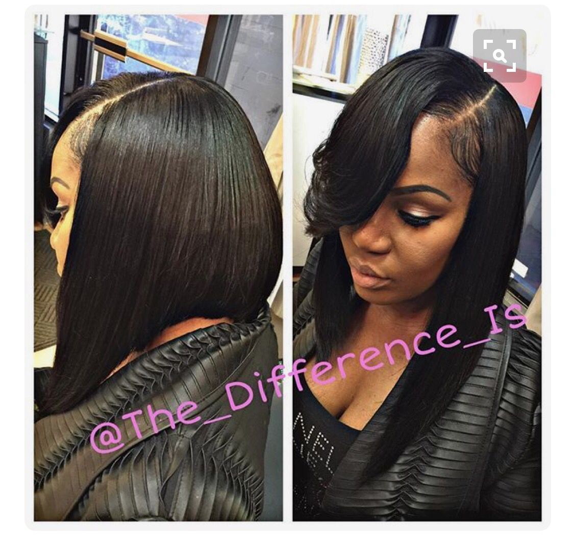 pinterest: lovemebeauty85 | h a i r | bob sew in, side part