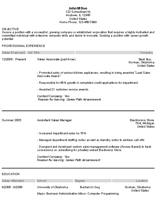 Resume Builder Entry Level Resume Templates - http://www.jobresume ...