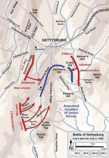 Battle of Gettysburg  Wikipedia the free encyclopedia  History