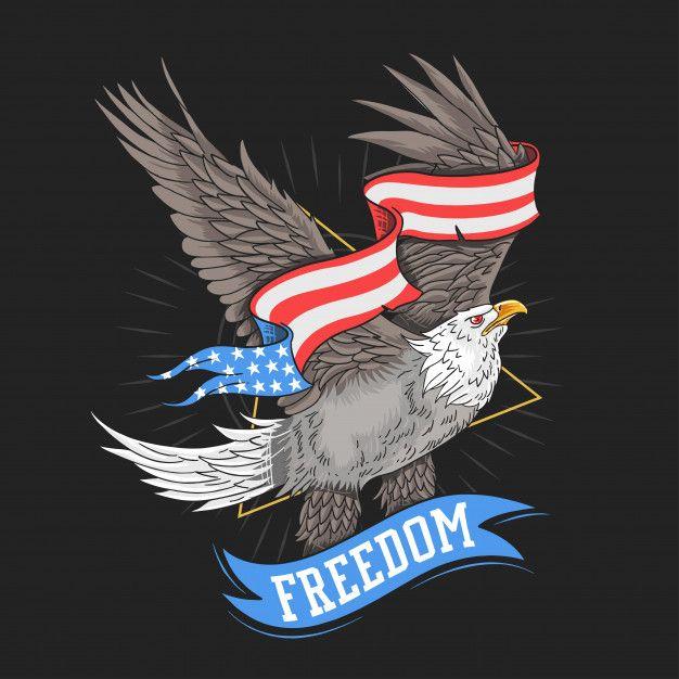 AMERICAN EAGLE USA ARTWORK Usa eagle freedom vector  Premium Vector