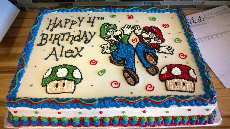 Mario Brothers Birthday Cake Kids Birthday Cakes Pinterest