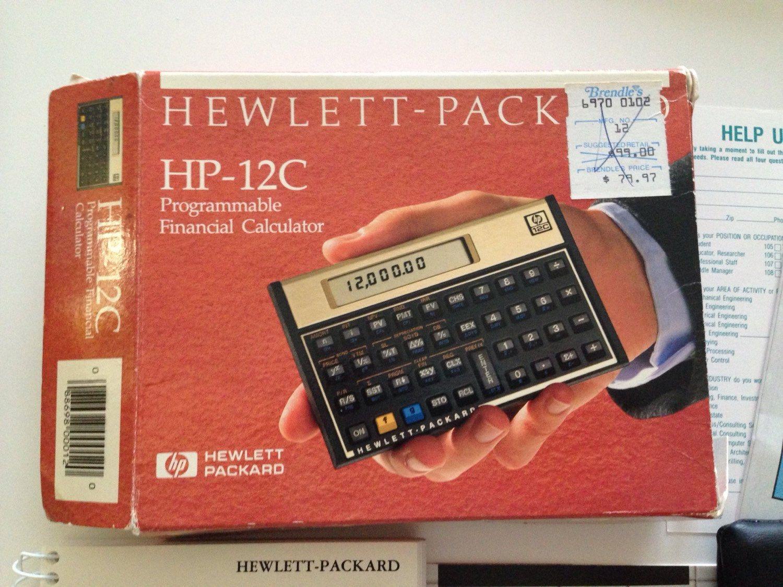 Hewlett Packard HpC Programmable Financial Calculator By