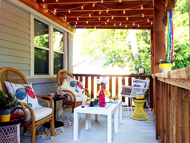 How To Hang String Lights On Covered Patio Simple The Best Outdoor Patio String Lights  Patio Reveal  Outdoor Patio Design Ideas