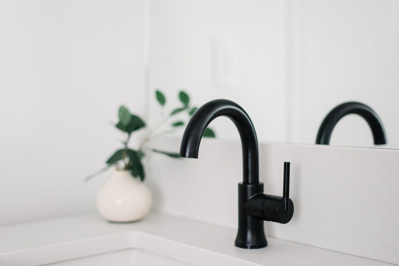 Bathroom Faucet Delta Trinsic In Matte Black Matte Black Bathroom Faucet Bathroom Faucets Matte Black Faucet