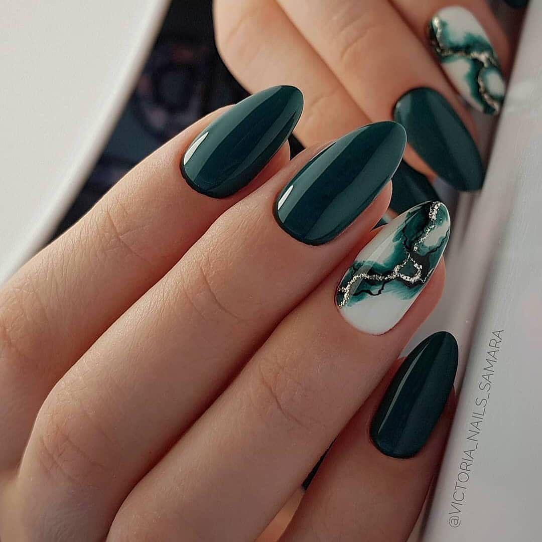 10 Lovely Nail Polish Trends For Fall Winter 2020 Pouted Com Green Nail Designs Fall Nail Art Designs Fall Nail Designs