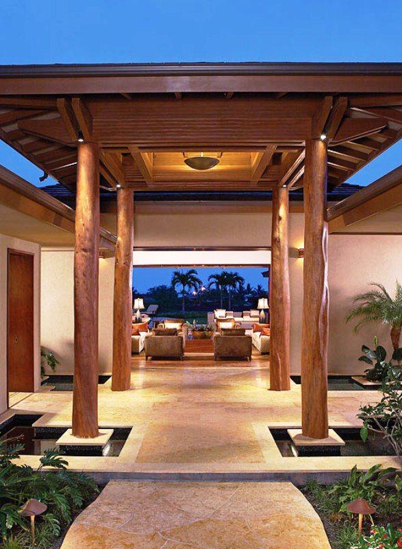 Luxury Entrance Interior for Luxury Elegant Tropical House ...