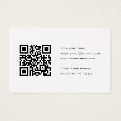 Black And White Qr Code Consultant Business Card Zazzle Com In 2021 Qr Code Business Card Minimalist Business Cards Business Card Minimalist