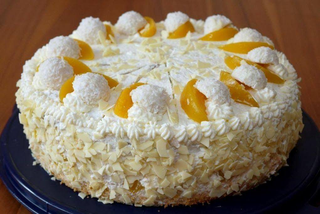 Pfirsich-Raffaello-Torte #octoberfestfood