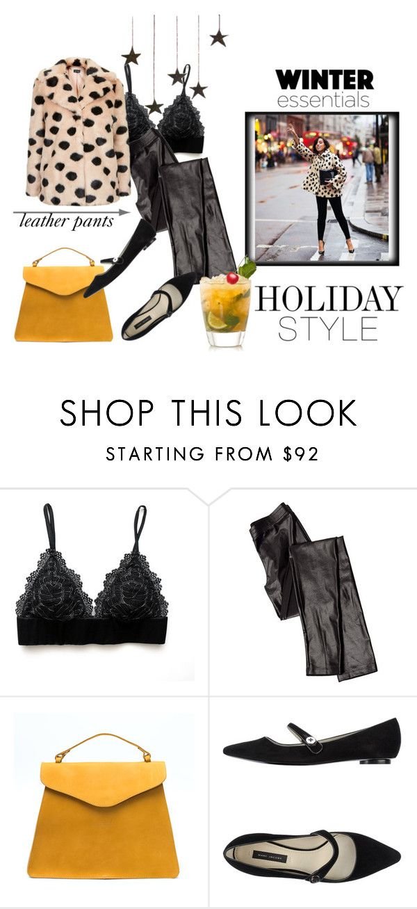 """""""leather pants"""" by theworldisatourfeet ❤ liked on Polyvore featuring Iodice and Marc Jacobs"""