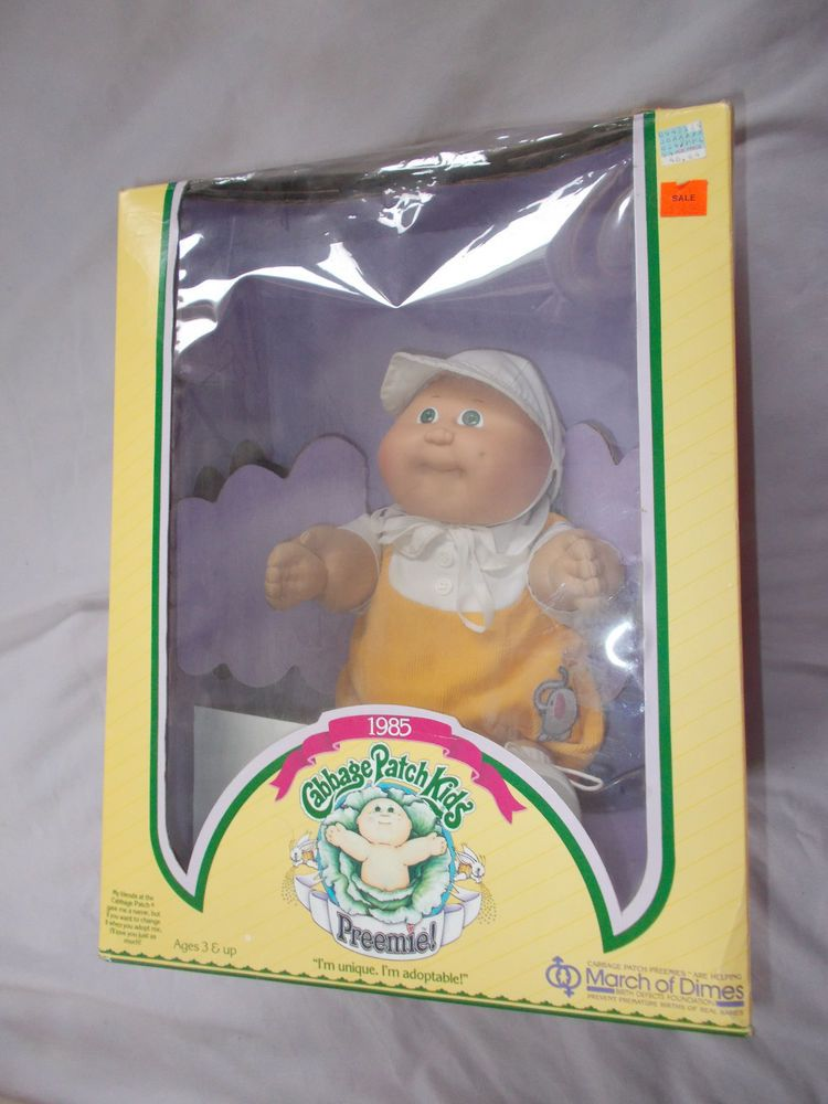 Vintage Cabbage Patch Kids Preemie March Of Dimes W Box Paperwork Cabbage Patch Kids Cabbage Patch Dolls Cabbage Patch
