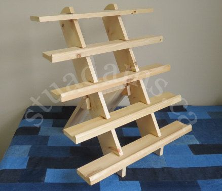 5 Shelf 24 Lipped Collapsible Riser Portable Display Stand Store