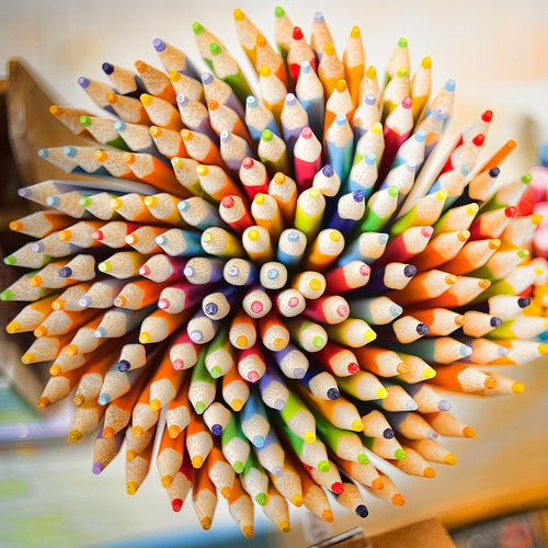 a bouquet of freshly sharpened pencils