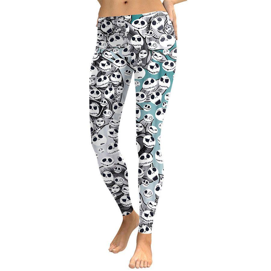 30d19e80325282 The Nightmare Before Christmas Jack Skellington Yoga Leggings Pants  Halloween#Jack#Skellington#Nightmare