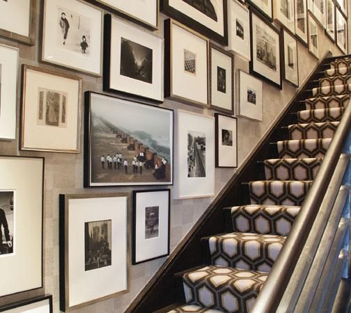Gallery wall and stair runner