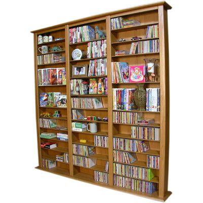 Venture Horizon VHZ Entertainment Large Triple Multimedia Storage Rack Finish: Oak