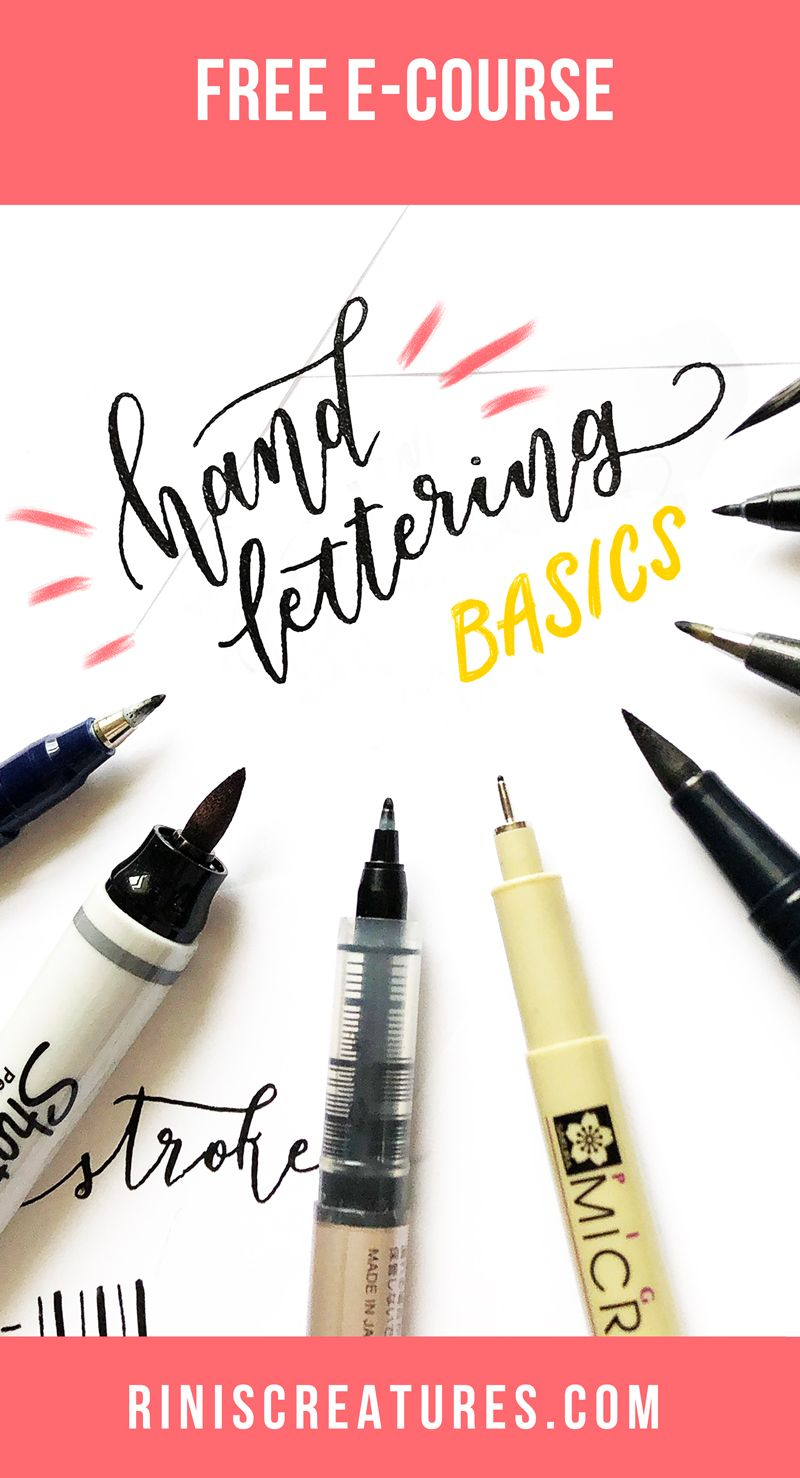 Getting started can be the hardest hurdle in your hand lettering journey. The array of lovely lettering inspiration across resources like Pinterest and Instagram can be daunting. Join me in this beginner hand lettering course as we explore the tools, tips, and basic exercises you will need to build a foundation for your own unique lettering style.