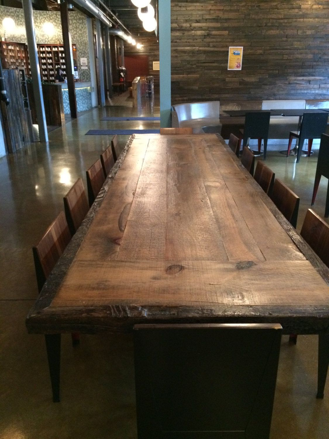 Custom Made Table Top Reclaimed Wood Table Top Is Sanded And Sealed - Custom made reclaimed wood dining table