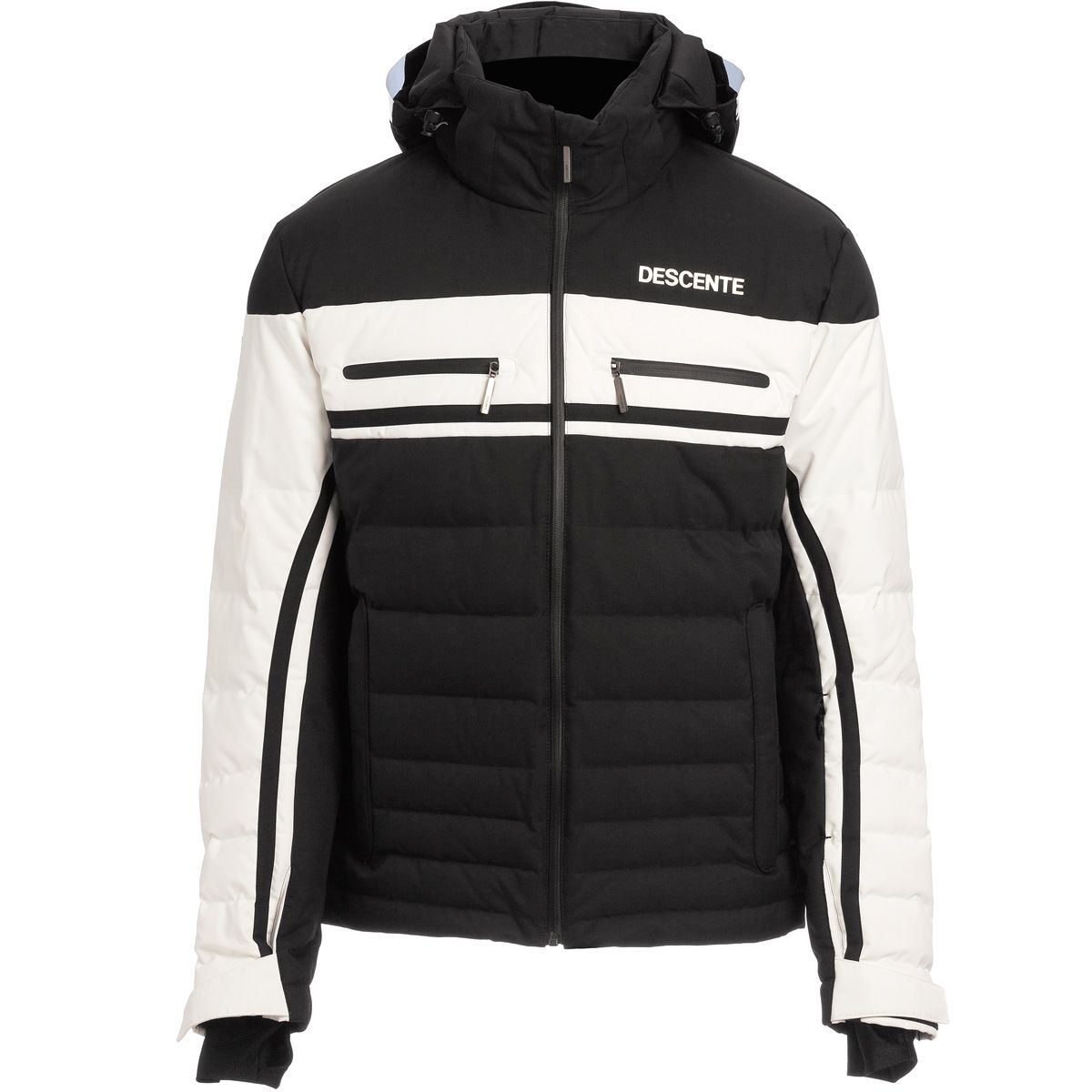 Descente Men Editor Jacket black super white  d77ccbd4f0