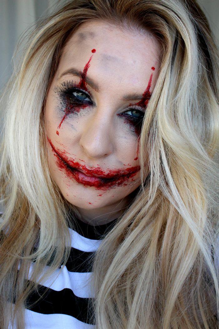 Halloween Sminkning Joker.Halloween Joker Makeup Tutorial Inspired Maskerad Sminkning