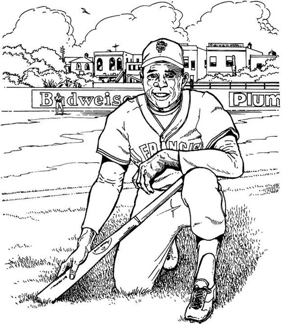 San Francisco Giants Player Baseball Coloring Page Purple Kitty