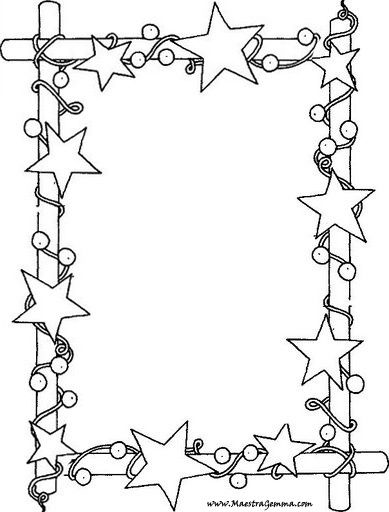 T T Star Frame Christmas Coloring Pages Christmas Border Coloring Pages