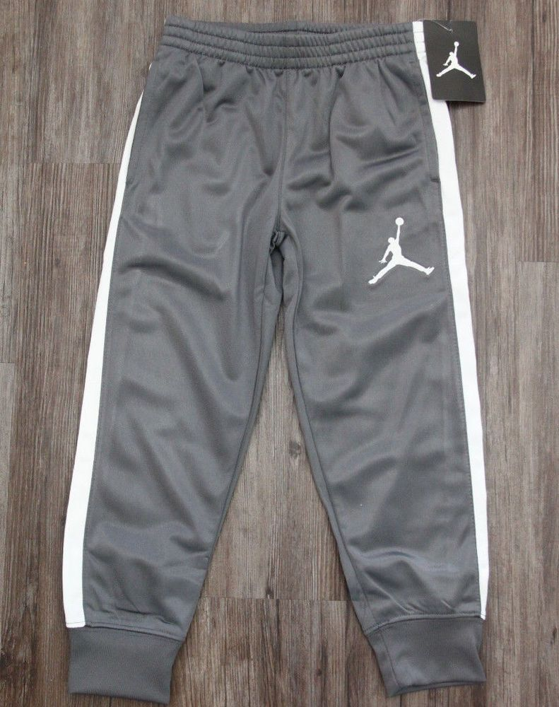 7537f7cd523 Air Jordan Boy Sweat Pants ~ Track Pants ~ Gray & White ~ #Jordan #Athletic  #Sweatpants #TrackPants