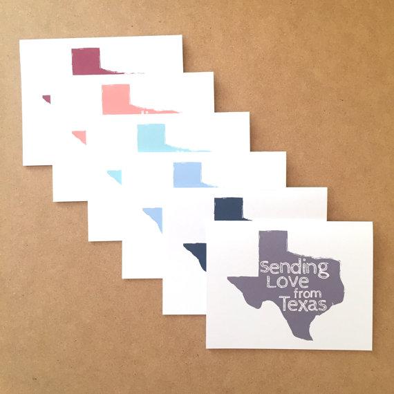 Texas greeting card texas gifts texas cards greetings from texas texas greeting card texas gifts texas cards greetings from texas texas state gift texas note card set texas shape texas map card m4hsunfo