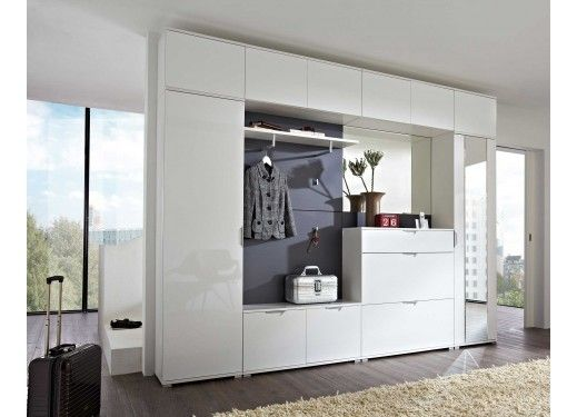 Meuble Rangement Entree Design Blanc Laque Slaapkamer