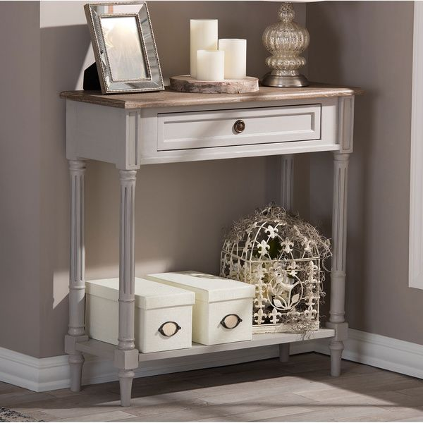 Baxton Studio Edouard French Provincial Distressed Console Table By - French country style console table