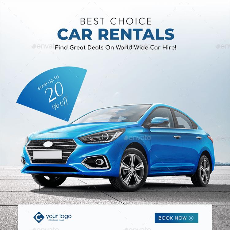 Car Rental Facebook And Instagram Banner Pack Car Rental Instagram Banner Banner Ads