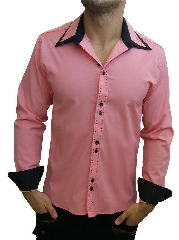 Image result for camisa social masculino preta com detalhes azul ... a76ac0e683ac0