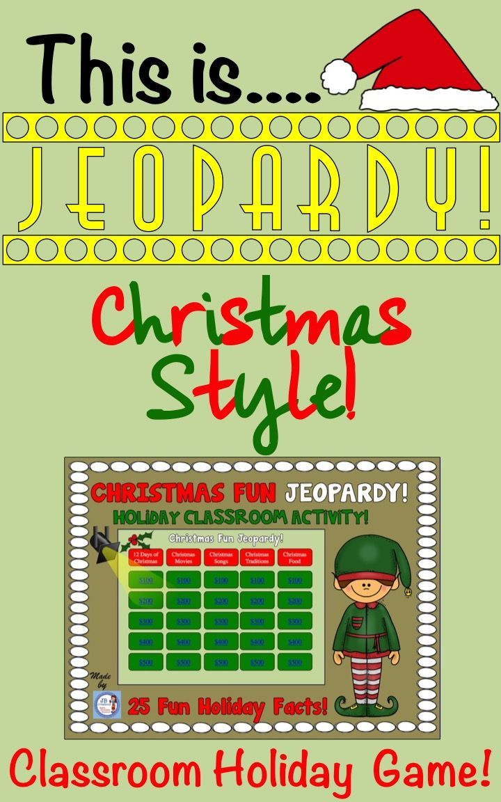 25 fun engaging trivia facts about christmas httpswwwteacherspayteacherscomproductchristmas jeopardy christmas trivia for elementary 3526765 - Christmas Jeopardy Game