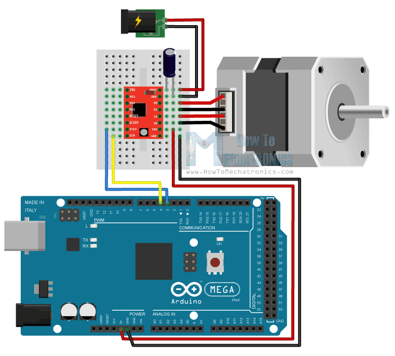 In this arduino tutorial we will learn how to control a for Arduino and stepper motor