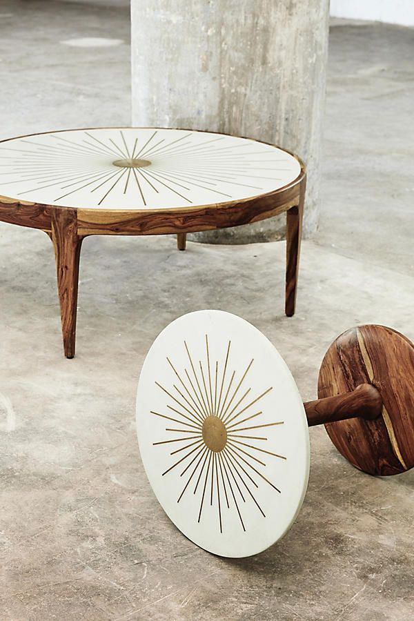 Brass Starburst Round Coffee Table Coffee Table Round Coffee