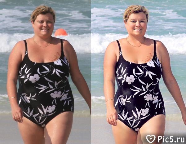 Похудение с фотошопом онлайн