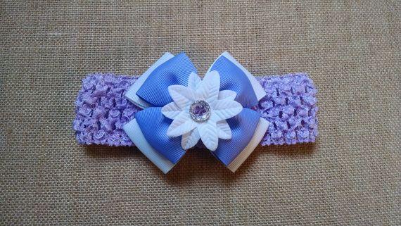 Baby Girl Headband Flower Headband Purple by GloriaMillerCreation