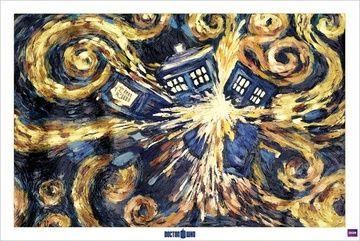 Plakat Doctor Who Exploding Tardis Plakaty Pinterest