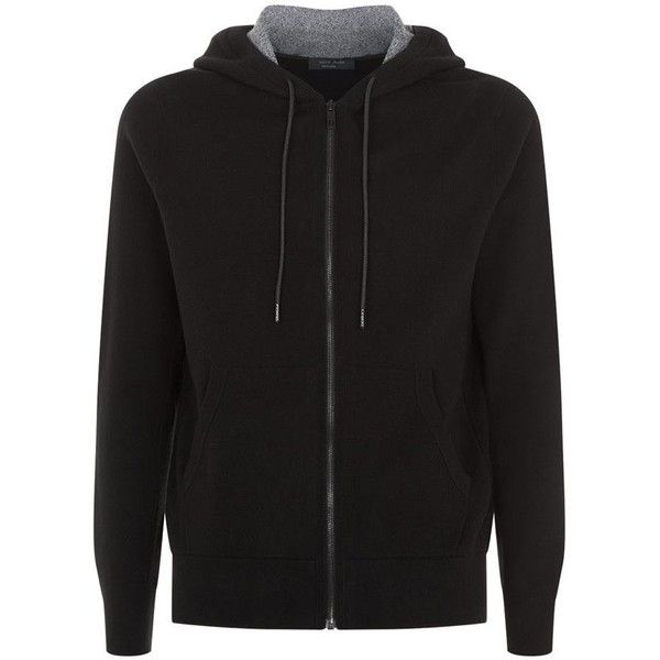 Rag & Bone Knitted Hoodie ($350) ❤ liked on Polyvore featuring men's fashion, men's clothing, men's hoodies, mens sweatshirts and hoodies and mens hoodies