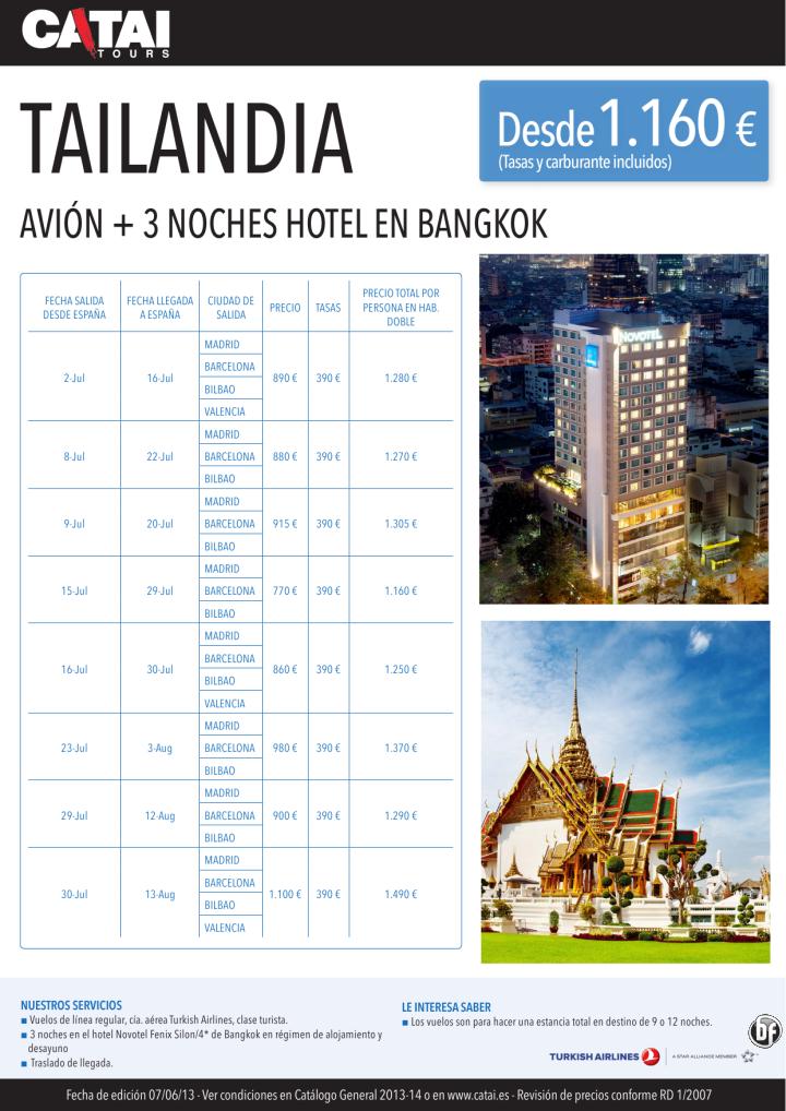TAILANDIA, avión+3 noches de hotel en Bangkok desde 1.160€ - http://zocotours.com/tailandia-avion3-noches-de-hotel-en-bangkok-desde-1-160e/